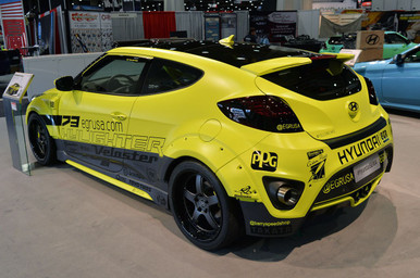 2012-2017 Hyundai Veloster EGR 8 Piece Wide Body Kit in FRP