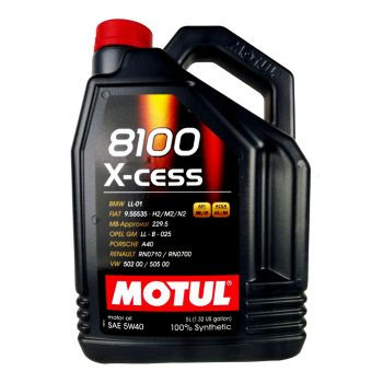 Motul 8100 X-Cess 5W-40 and Oil Filter Kit