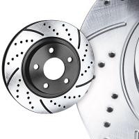 Piercemotorsports Golf R Crossdrilled and Slotted Rotors!