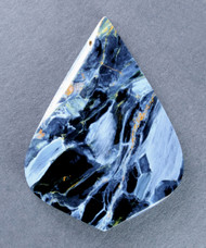 Amazing Chatoyant Blue Namibian Pietersite Cabochon #14511