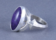 Sugulite and Sterling Silver Ring