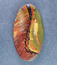 Dramatic Marra Mamba  Cabochon - Red, Blue and Gold  #14632