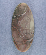 Dramatic Burgundy and Green Spiderweb Imperial Jasper Cabochon #14768