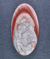 Gorgeous Orby Red and Pink Imperial Jasper Cabochon  #14770