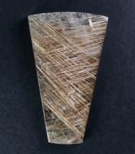 Exceptional! Rutilated Quartz Cabochon -w- Golden Needles  #15021