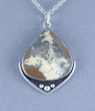 Priday Plume Agate Sterling Silver Pendant p0016