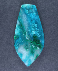 Deep Blue Gem Chrysocolla and Malachite Cabochon #15183