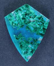 Deep Blue Gem Chrysocolla Chatoyant Malachite Cabochon  #15252