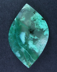 Plume Chrysocolla and Malachite in Agate Cabochon #15407