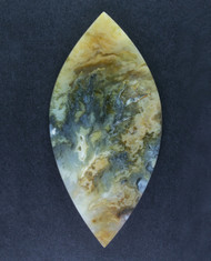 Unique Graveyard Point Plume Agate Cabochon w Marcasite  #15419
