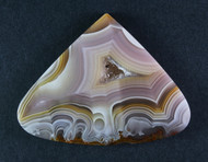 Pink and Yellow Agua Nueva Fotification Agate Cabochon #15454