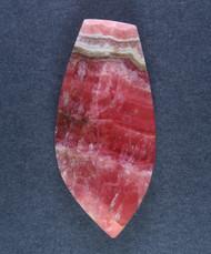 Deep Pink Translucent Rhodochrosite Cabochon - Fantastic Colors  #15460