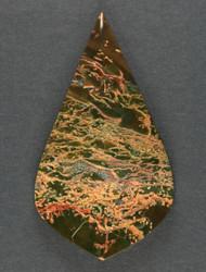 Gorgeous Lucky Strike Moss Jasper Cabochon  #15504