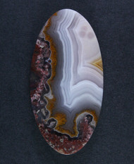 Pink and Yellow Agua Nueva Fotification Agate Cabochon  #15530