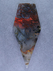 Dramatic Lucky Strike Moss/Tube Agate Cabochon- Great Colors  #15569
