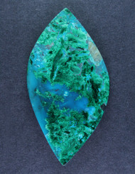Deep Blue Gem Chrysocolla Chatoyant Malachite Cabochon  #15630