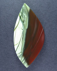 Dramatic Maroon and Green Imperial Jasper Cabochon #15637