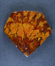 Dramatic designer cabochon of Cady Mtn Plume Agate   #15654