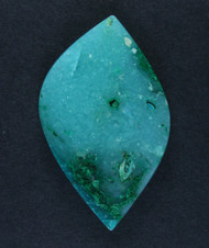 Bright Blue Gem Chrysocolla/Malachite in Agate Cabochon  #15664