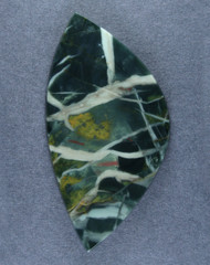 Dramatic Morrisonite Jasper Cabochon- Green, Blue + Orange   #15693