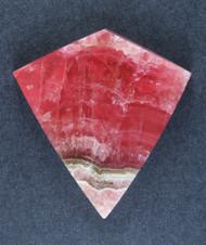 Deep Pink Translucent Rhodochrosite Cabochon - Fantastic Colors  #15709