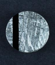 Galactic Gibeon Meteorite/ Black Onyx Composite Cabochon  #15712