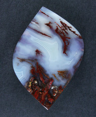 Beautiful Cady Mtns Red Moss Agate Designer Cabochon  #15729