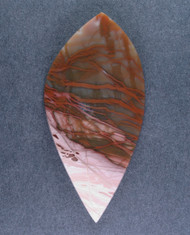 Gorgeous Red and Pink Spiderweb Imperial Jasper Cabochon  #15866