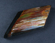 Dramatic Original Marra Mamba  Cabochon -  Rare Copper Red, Blue and Yellow  #15918