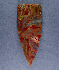 Dramatic Morrisonite Jasper Cabochon- Red, Blue + Yellow   #15920