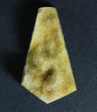 Gorgeous Bright Yellow Druzy Agate Gemstone  #16022