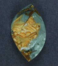 Dramatic Morrisonite Jasper Cabochon- Blue and Yellow   #16086