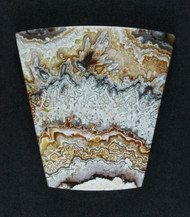Crazy lace Agate Cabochon- Red, Orange and Yellow  #17081