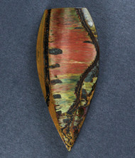 Dramatic Marra Mamba  Cabochon-  Red, Green and Blue  #17111