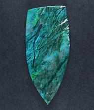 Bright Blue/Green Gem Chrysocolla in Agate Cabochon  #17118