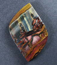 Dramatic Marra Mamba  Cabochon-  Red, Blue, and Yellow  #17142