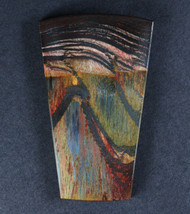 Dramatic Marra Mamba  Cabochon -  Rare Cobalt Blue, Red and Yellow   #17158