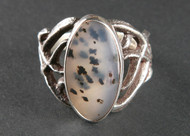 Montana Agate and Sterling Silver Ring r0009