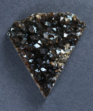 Brilliant Black Coffee Druzy with Reddish Highlights  #17256