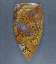 Dramatic Riviera Moss/Plume Agate Designer Cabochon  #17264