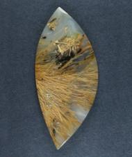 Gorgeous Designer Cabochon of Nipomo Sagenite Agate  #17298