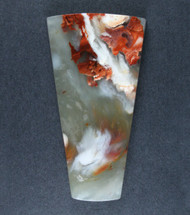 Gorgeous Red Carey Plume Agate Designer Cabochon  #17395