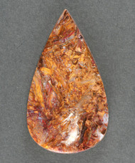 Gorgeous Pietersite Cabochon- Chatoyant Red and Gold 13636