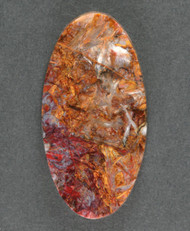 Gorgeous Pietersite Cabochon- Chatoyant Red and Gold 13635