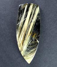 Fantastic! Rutilated Quartz Cabochon -w- Golden Needles 14321