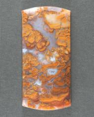Dramatic Riviera Moss/Plume Agate Designer Cabochon 13704