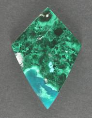 Deep Blue Gem Chrysocolla Chatoyant Malachite Cabochon 13334