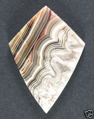 Crazy lace Agate Cabochon - Pink, White and Yellow