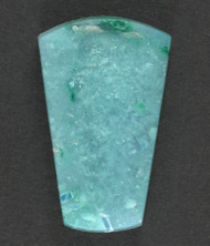 Bright Blue Gem Chrysocolla/Malachite in Agate Cabochon 13476