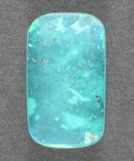 Bright Blue Gem Chrysocolla in Agate Cabochon 13630